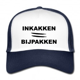 Inkakken is bijpakken trucker cap
