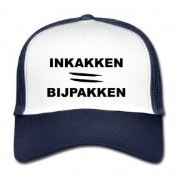 Inkakken is bijpakken trucker cap