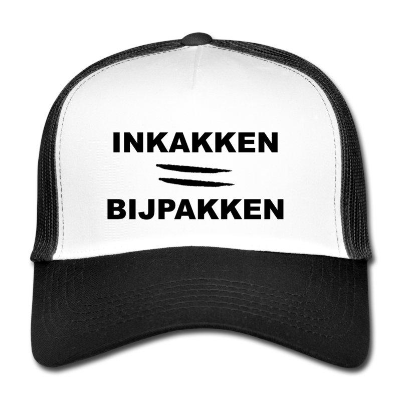 Inkakken = Bijpakken trucker cap
